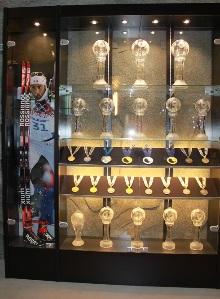 globes de cristal et médailles olympiques